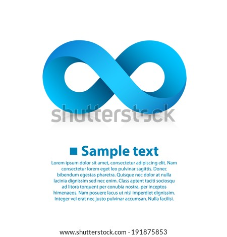 Infinity Blue Icon sign, template design element, Vector illustration