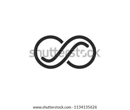 Infinity Design,Infinity logo Vector icon template #1134135626