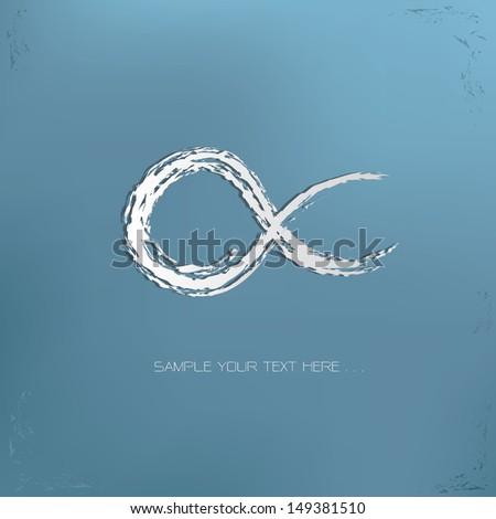 infinity drawing symbol vector