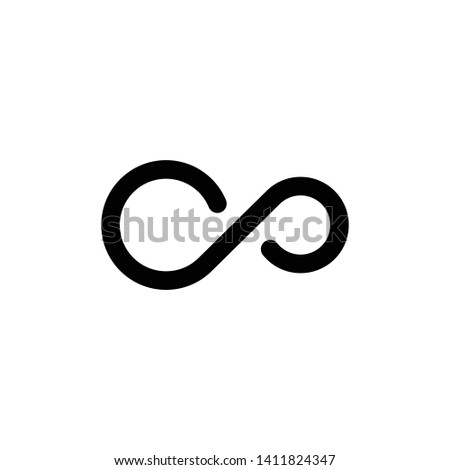 Infinity icon design template. Vector EPS 10 #1411824347