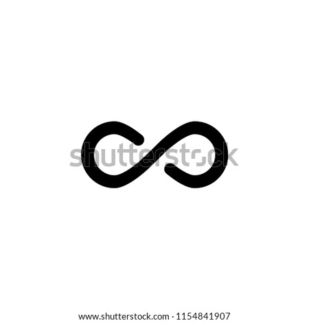 Infinity icon. Infinity symbol. Flat Vector illustration #1154841907