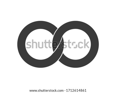 infinity icon  two locked