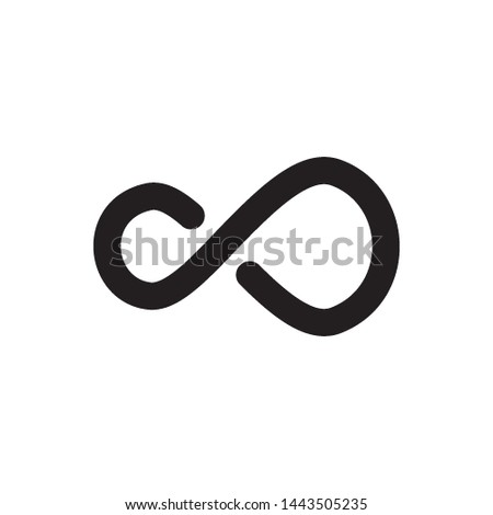 infinity icon vector design template #1443505235