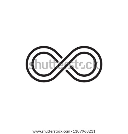 infinity icon vector logo template #1109968211