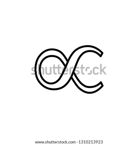 Infinity Line Icon In Flat Style Vector For App, UI, Websites. Black Icon Vector Illustration. #1310213923