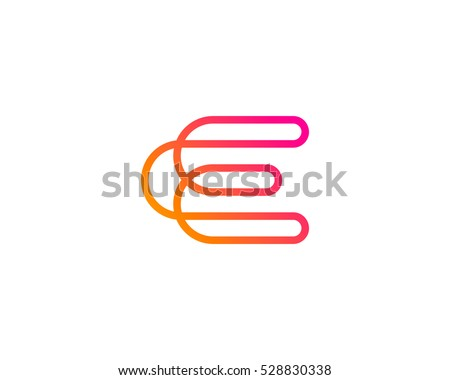 Infinity Line Letter Initial E Logo Design Template