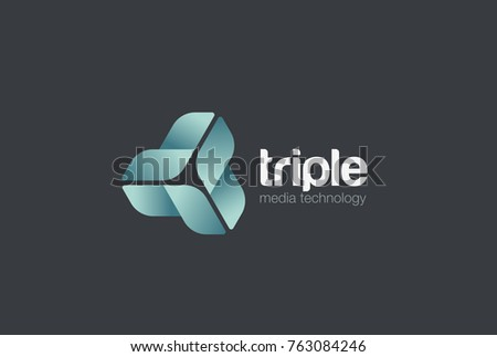Infinity Looped Triangle abstract Logo design vector template. Corporate Business Technology infinite loop Logotype concept icon.