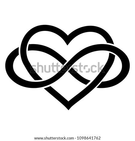 Infinity love icon.