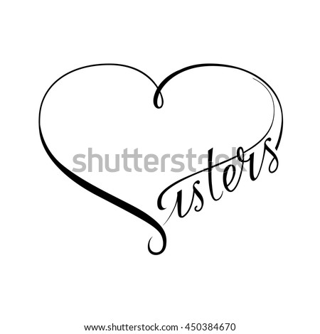 Infinity love sisters vector symbol ストックフォト ©