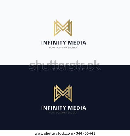 Infinity media, M letter Vector Logo Template