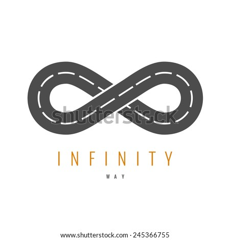 infinity road logo. loop way...