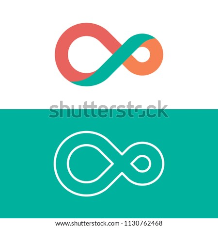 infinity shape logo design concept in color harmony #1130762468
