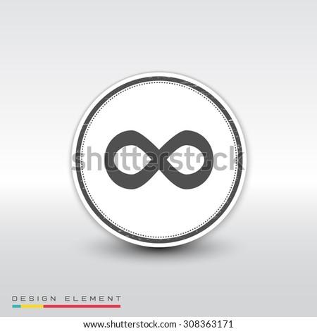 infinity sign flat design