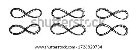 Infinity sign hand drawn illustration