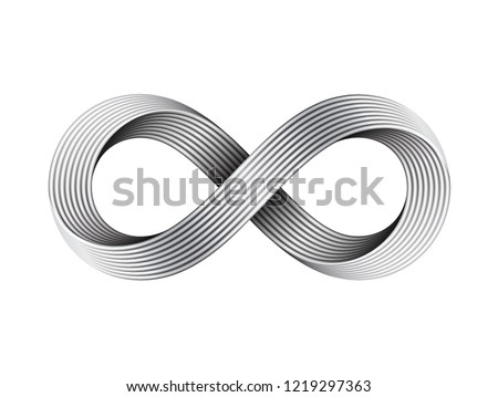 infinity sign made of metal