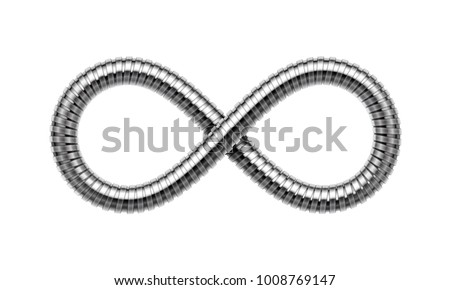 infinity sign made of shower