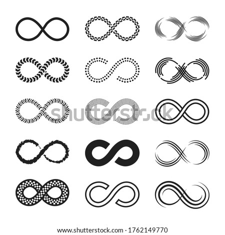 infinity signs set endless