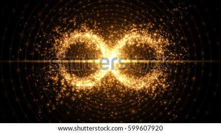 Infinity symbol background. Vector illustration