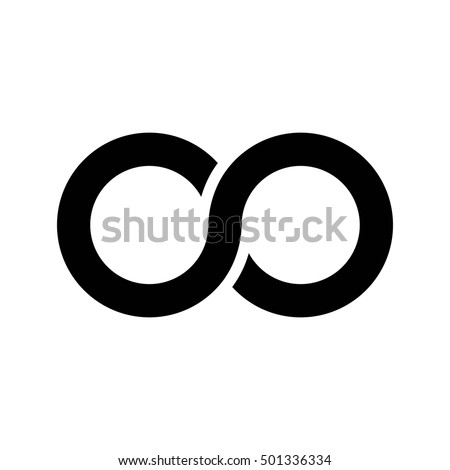 Infinity symbol icon, aka lemniscate, looks like sideways number eight. Mathematic symbol representing the concept of infinite figure.
