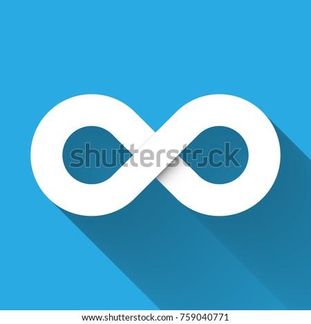 infinity symbol icon concept