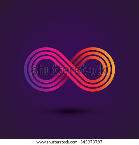 infinity symbol icon or logo