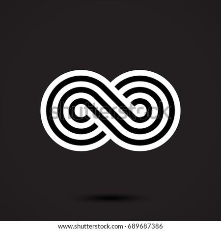 Infinity symbol icon vector illustration