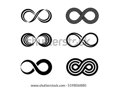 Infinity symbol icons vector illustration #559806880