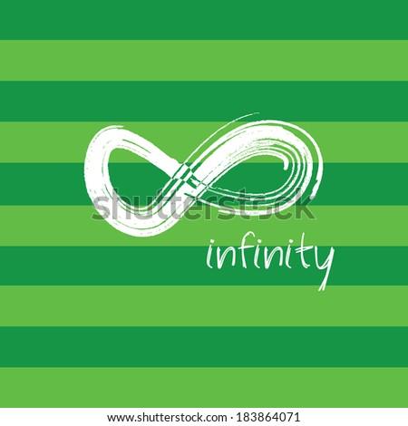 infinity symbol on green