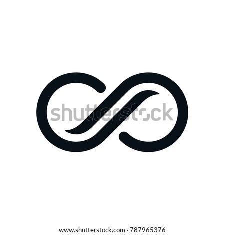 infinity symbol on white