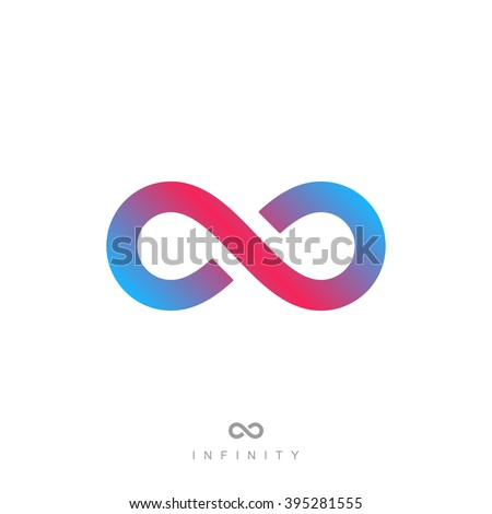 infinity symbol or sign. infinite icon. limitless logo. isolated on white background vector illustration