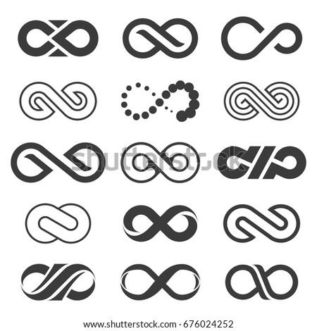 Infinity symbol set.