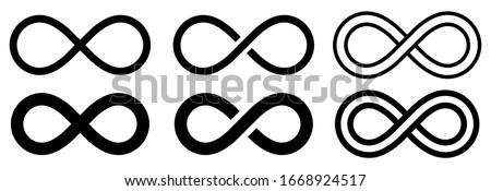 Infinity symbol set. Vector illustration Photo stock ©