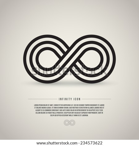 Infinity symbol, vector illustration