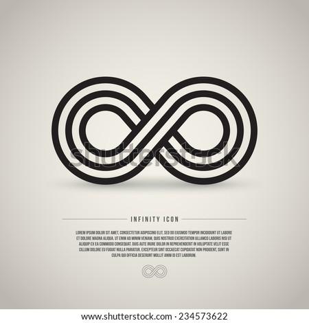 Infinity symbol, vector illustration