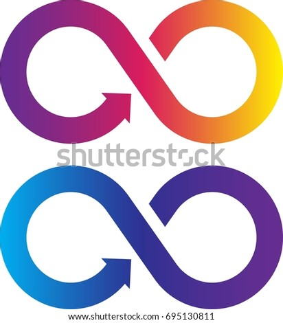 Infinity symbol with color gradient. Vector illustration