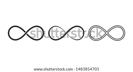 Infinity symbols. Eternal, limitless, endless, life logo or tattoo concept. EPS 10