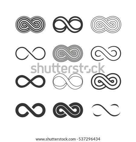 infinity symbols set
