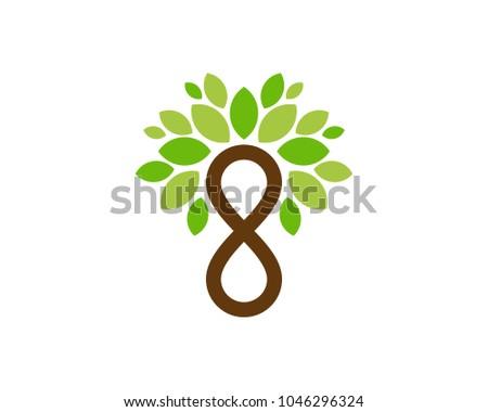 infinity tree icon logo design