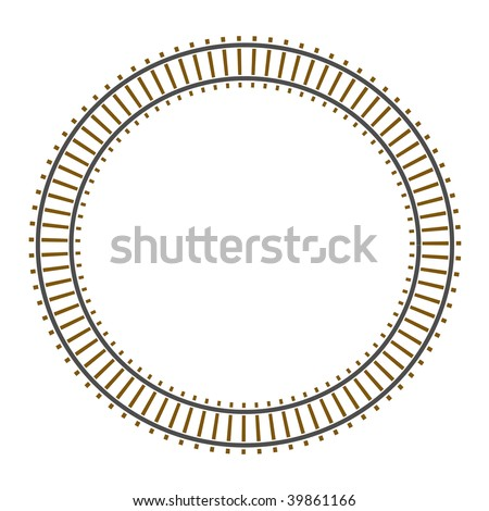 Infinity vector circle train railway track