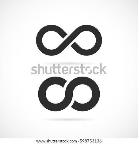Infinity vector eps symbol illustration isolated on white background - Shutterstock ID 598753136