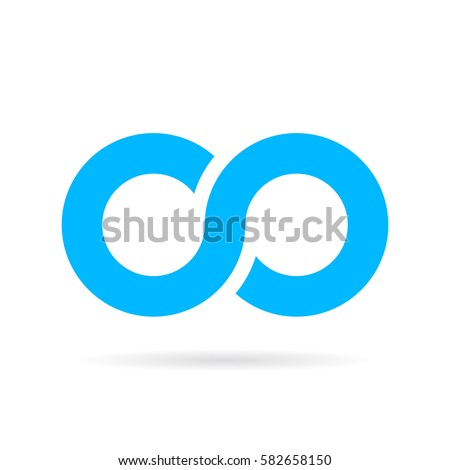 Infinity vector icon illustration isolated on white background. Infinate sign.