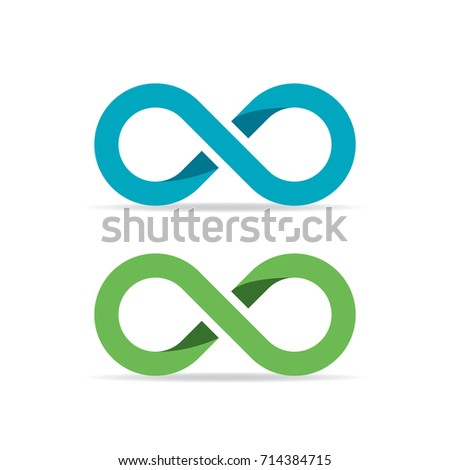 Infinity vector symbol isolated on white background
