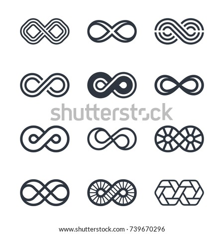 Infinity vector symbols and logo design graphics