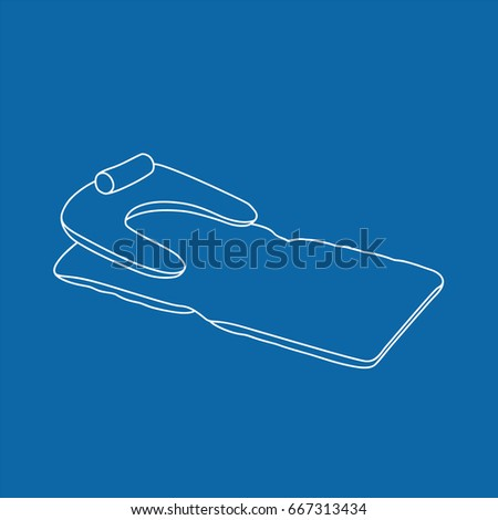 Inflatable mattress icon, vector illustration design. Summer objects collection.