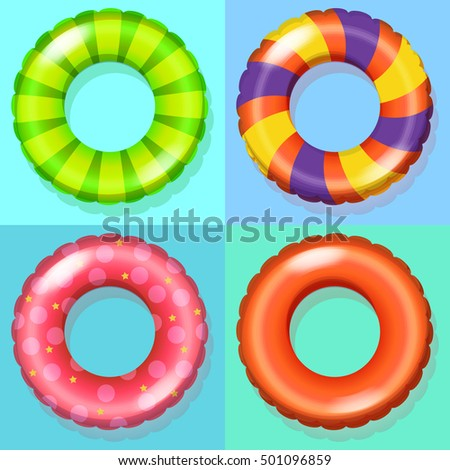 inflatable rings floating
