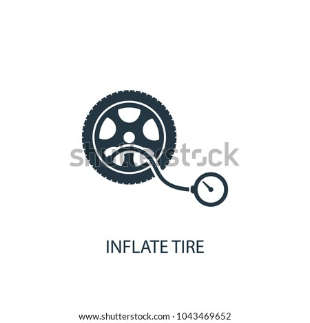 inflate tire icon. Simple element illustration. inflate tire concept symbol design from car service collection. Can be used for web and mobile.