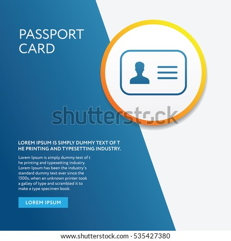 Info Board Graphic with Passport Card Air Symbol Icon Outline