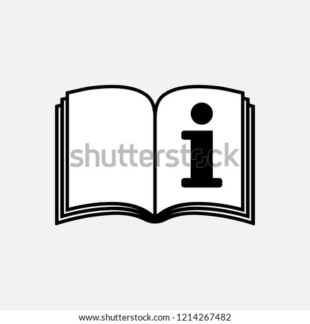 Info booklet symbol, info brochure, refer to instruction book, vector illustration.