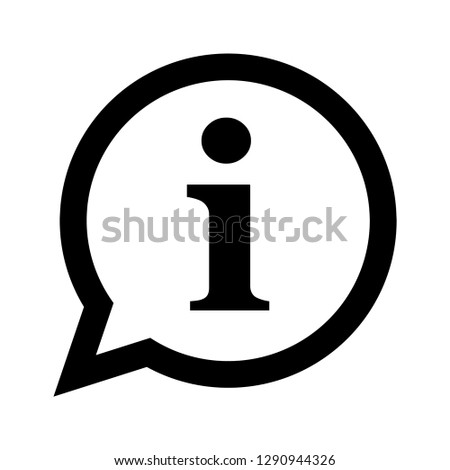 Info chat icon, information symbol in a speech bubble