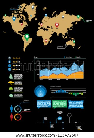Info-graphic - stock vector